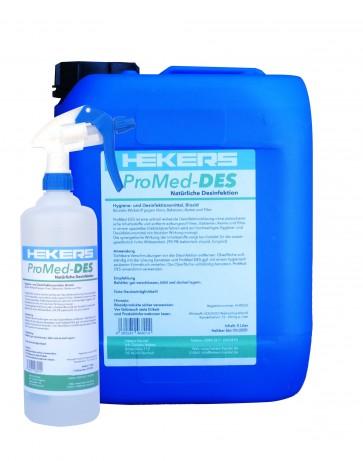 Desinfektionsmittel Promed-DES 5 Liter + 1 l. Sprühflasche