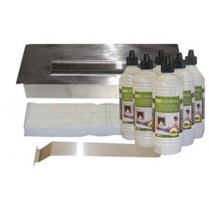 Edelstahl Brennkammer  & Keramikschwamm &  Bio-Ethanol