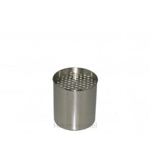 1 Edelstahldose inkl. Keramikschwamm