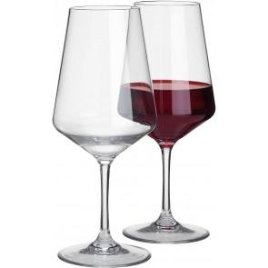 Savoy Rotweinglas, transparent, 2 Stück