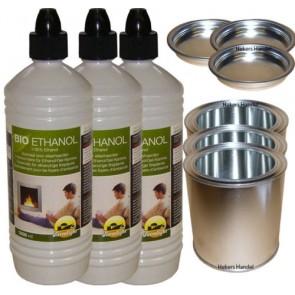 3 L Bioethanol Farmlight & 3 Dosen